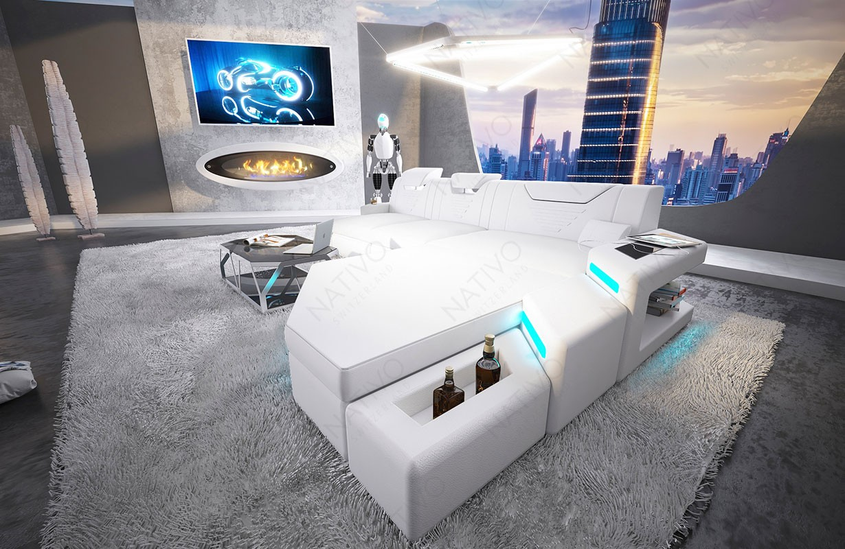 Canapé Design NEMESIS MINI avec éclairage LED et port USB