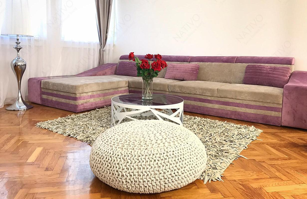 Canapé MINI en tissu avec éclairage LED