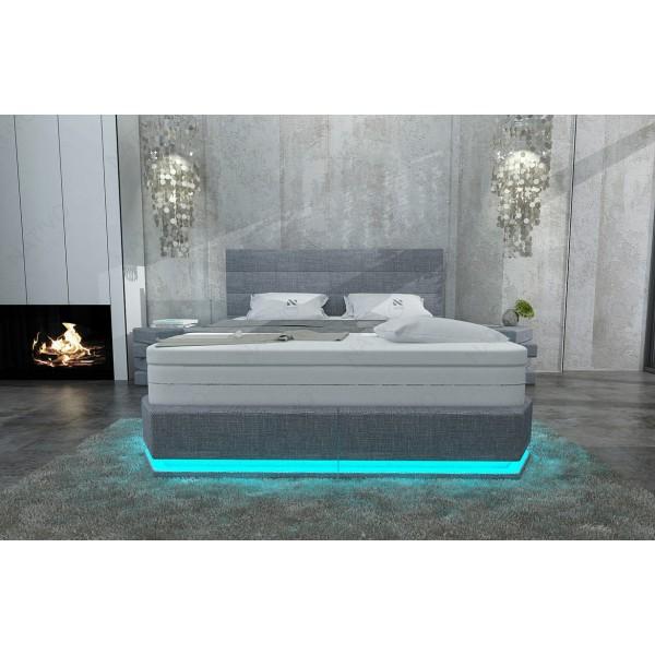 Canapé Design MYSTIQUE XXL avec éclairage LED et port USB