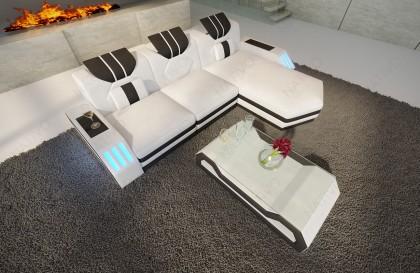 Canapé Design MYSTIQUE CORNER U FORM avec éclairage LED et port USB NATIVO mobilier France