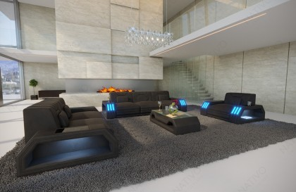 Canapé Design HERMES CORNER avec éclairage LED NATIVO mobilier France
