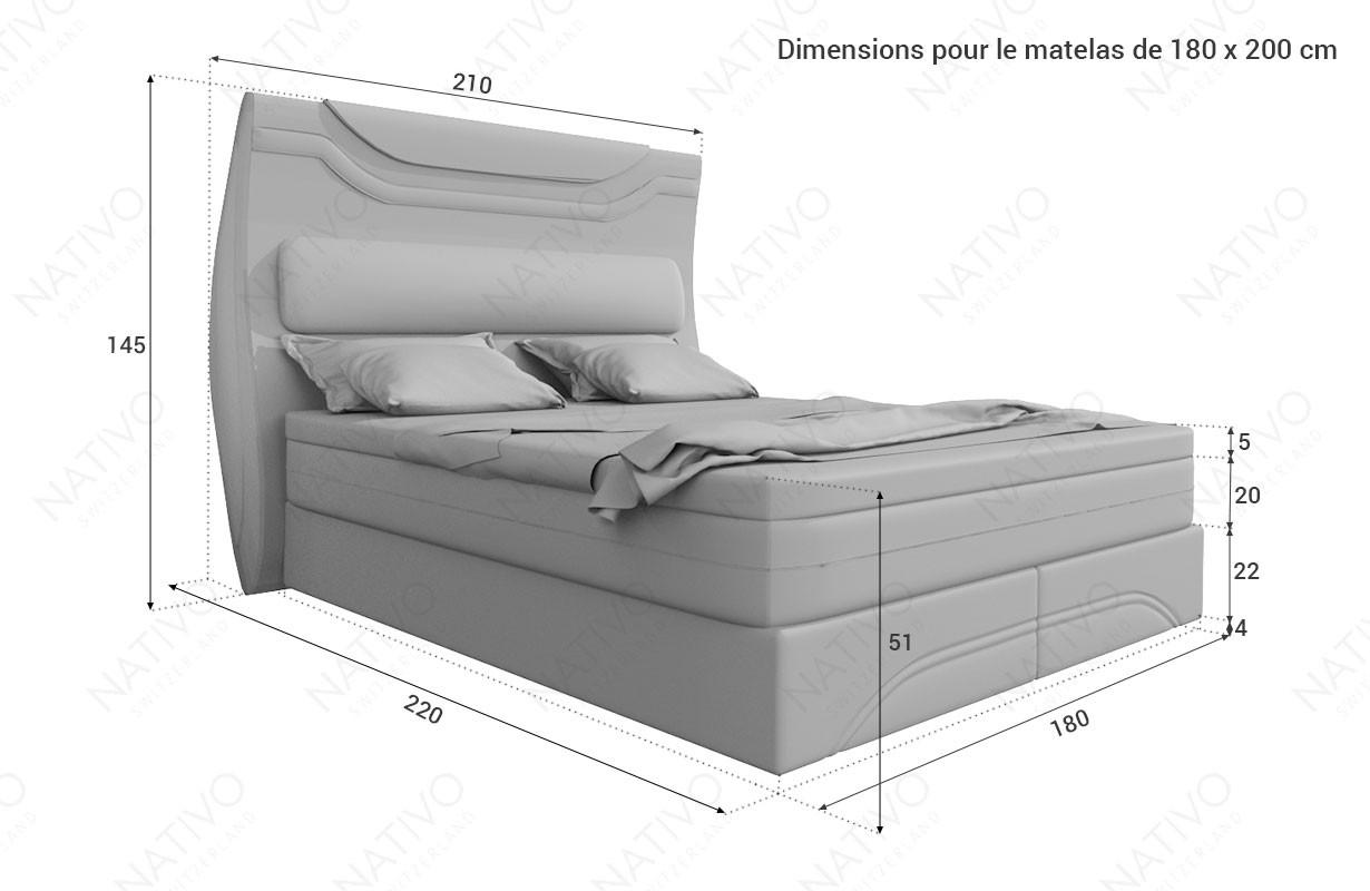 Canapé Design AVENTADOR XXL avec éclairage LED NATIVO mobilier France