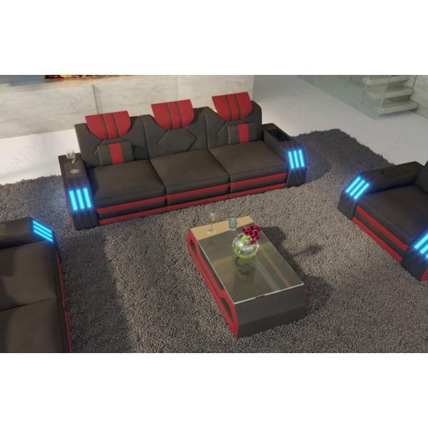 Lit Design MARS avec espace de stockage éclairage LED et port USB