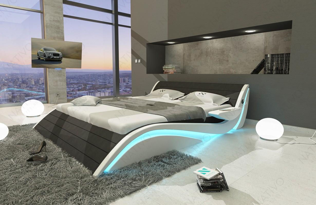 Lit Design HAMBURG avec éclairage LED et port USB