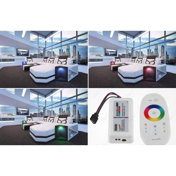 Lit Design LENOX avec éclairage LED NATIVO mobilier France