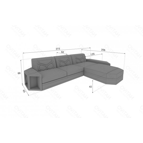 Lit boxspring ROMA en cuir avec topper et port USB NATIVO™ mobilier France