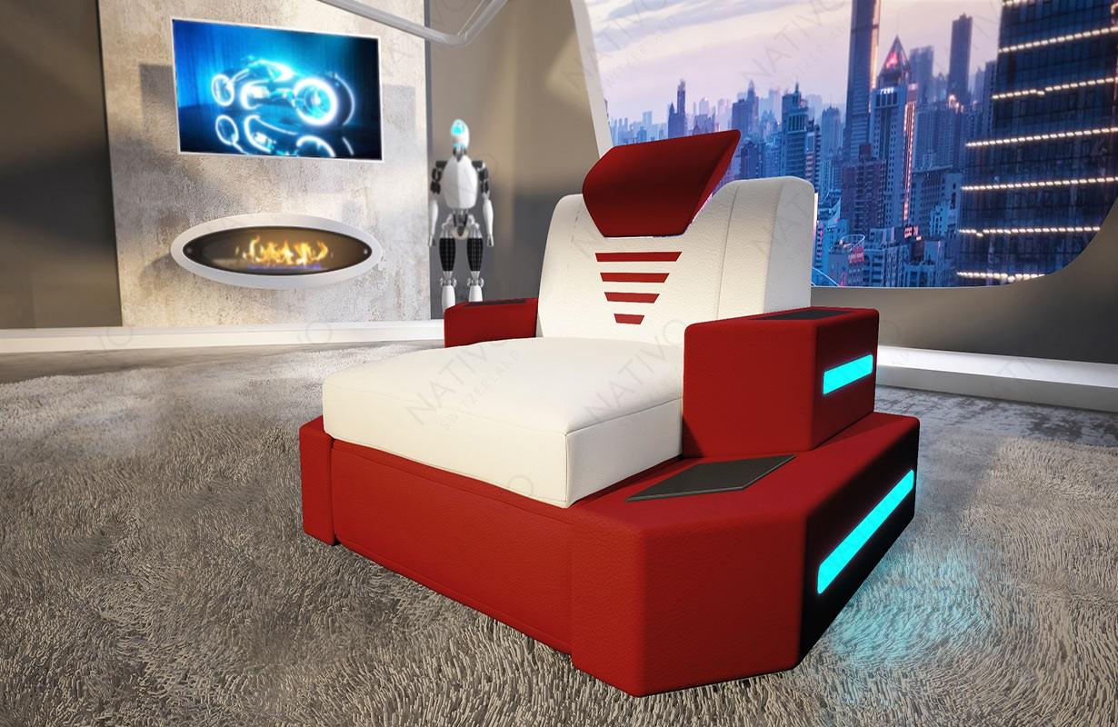 Fauteuil Design NEMESIS avec éclairage LED et port USB