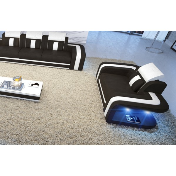 Lit Design MARS avec espace de stockage éclairage LED et port USB NATIVO™ mobilier France