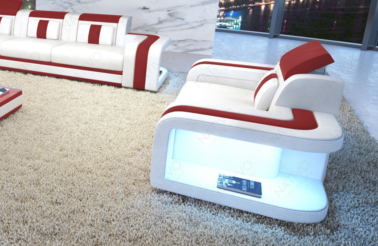 Lit Design MARS avec éclairage LED et port USB NATIVO™ mobilier France