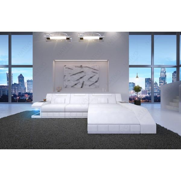 Canapé Design MYSTIQUE CORNER avec éclairage LED et port USB NATIVO™ mobilier France