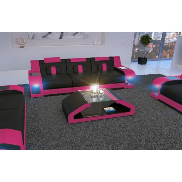 Canapé Design MYSTIQUE 3+2+1 avec éclairage LED et port USB NATIVO™ mobilier France