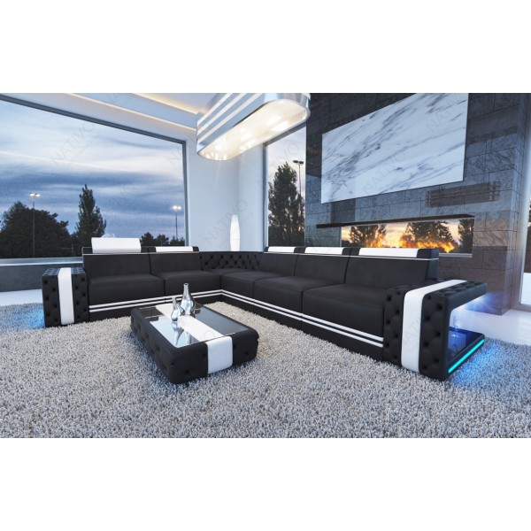 Canapé Design MYSTIQUE XL avec éclairage LED et port USB NATIVO™ mobilier France