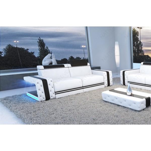 Canapé Design ROUGE XXL avec éclairage LED et port USB NATIVO™ mobilier France