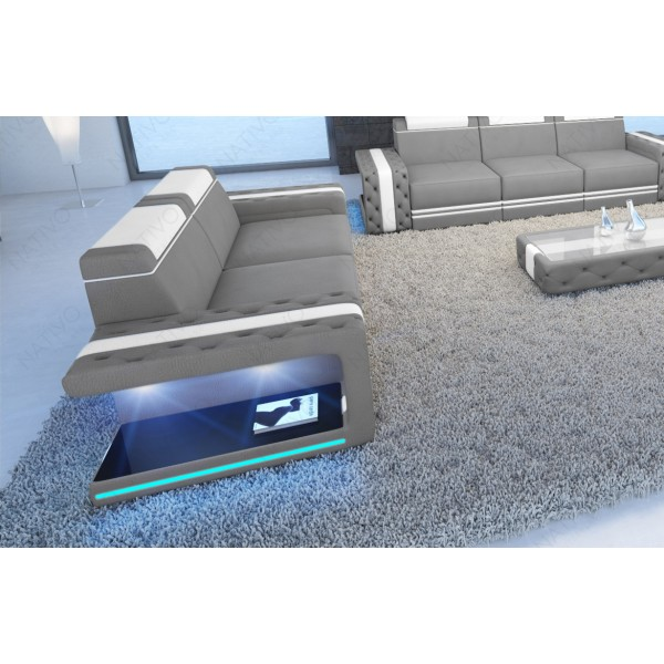 Canapé Design ROUGE XL avec éclairage LED et port USB NATIVO™ mobilier France