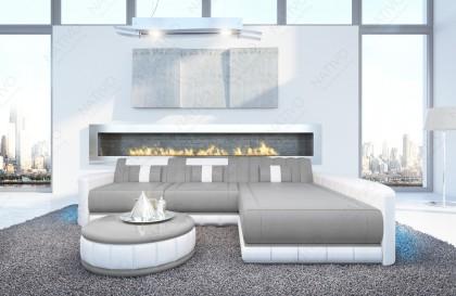 Canapé Design ROUGE CORNER avec éclairage LED et port USB NATIVO™ mobilier France