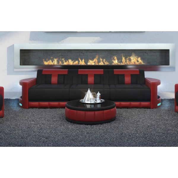Canapé Design ROUGE MINI avec éclairage LED et port USB NATIVO™ mobilier France