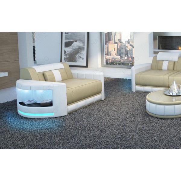 Canapé Design ROUGE MINI avec éclairage LED et port USB