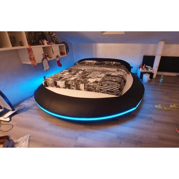 Canapé Design ROUGE XXL DUO avec éclairage LED et port USB NATIVO™ mobilier France