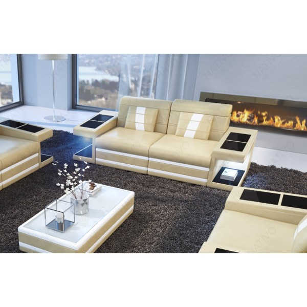 Canapé Lounge ATLANTIS MINI v1 en rotin NATIVO™ mobilier France