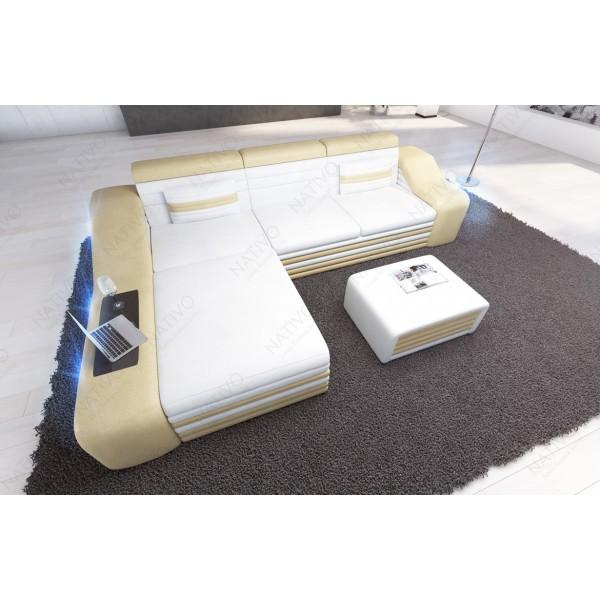 Canapé Lounge ATLANTIS XXL v2 en rotin NATIVO™ mobilier France