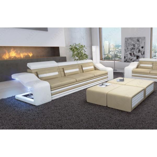 Set Lounge ATLANTIS 3+2+1 v2 en rotin NATIVO™ mobilier France