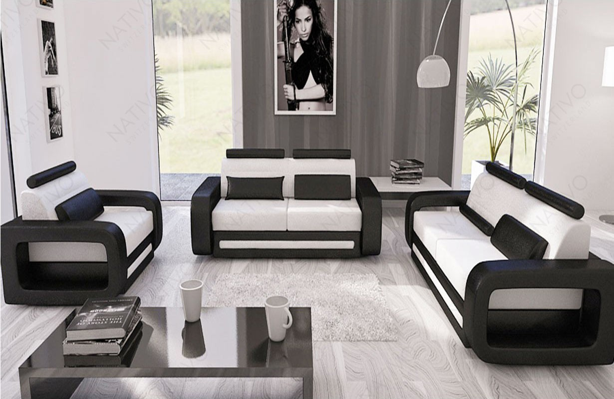 Canapé Design DAVOS 3+2+1