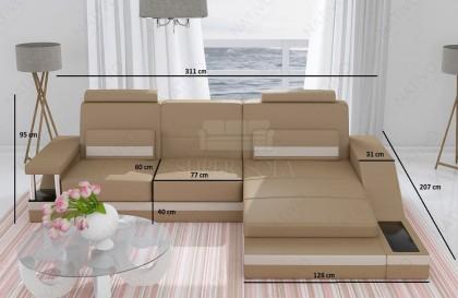 Canapé Lounge MESIA XXL v1 en rotin