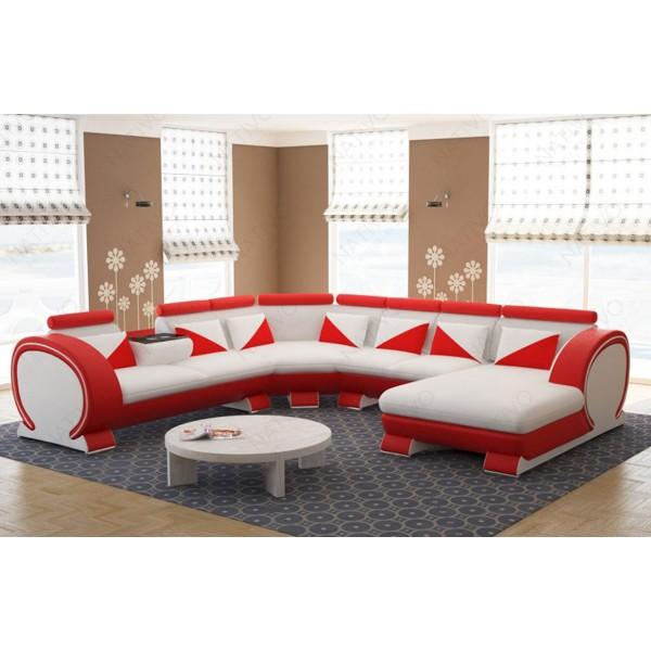 Canapé Lounge MESIA XXL v1 en rotin NATIVO™ mobilier France