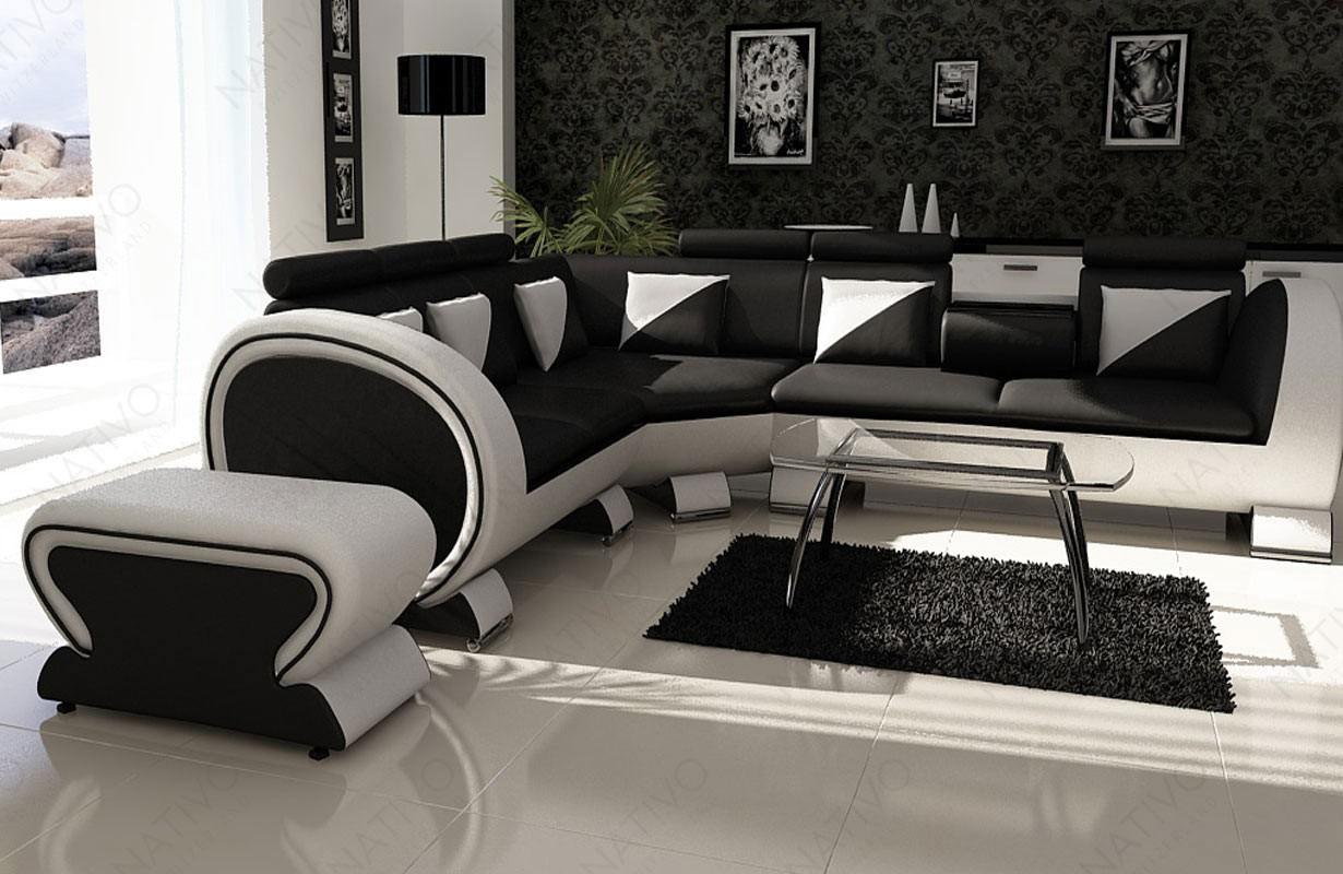 Canapé Design BEACHO CORNER avec porte-gobelets