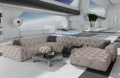 Canapé Lounge MESIA CORNER v2 en rotin NATIVO™ mobilier France