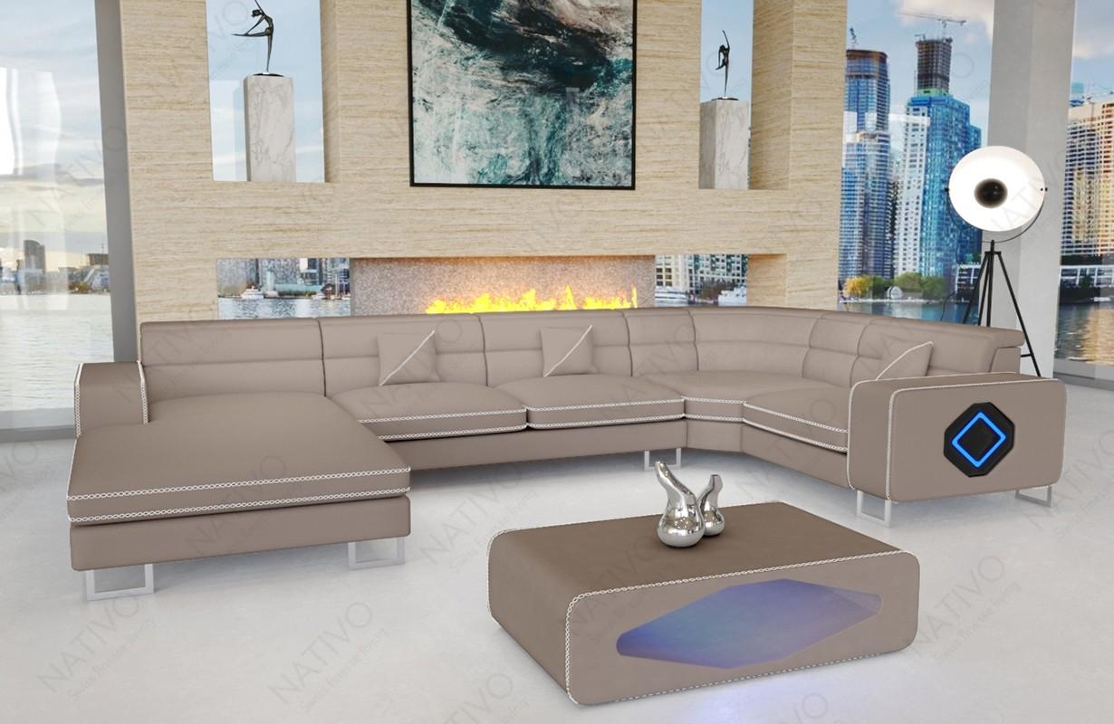 Canapé Design GREGORY XL avec éclairage LED