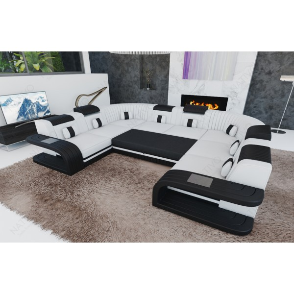 Fauteuil Design ROUGE avec éclairage LED et port USB NATIVO™ mobilier France
