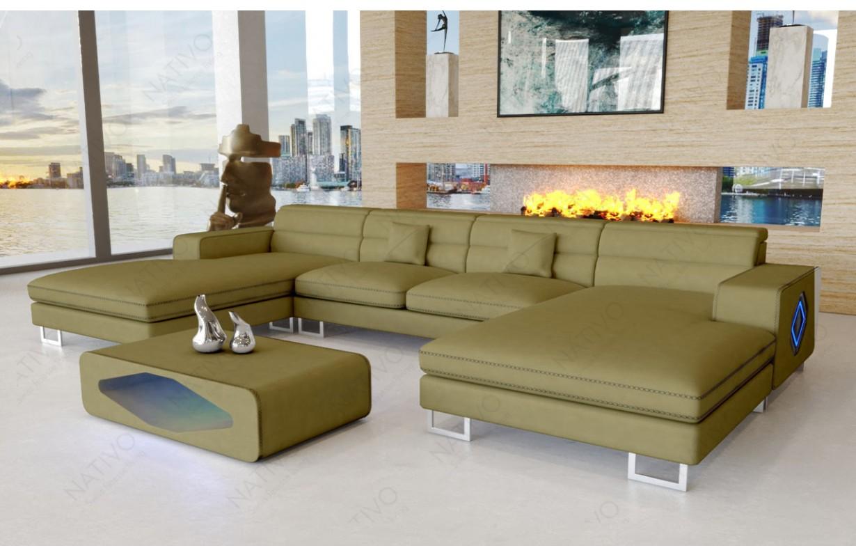 Canapé Design GREGORY XXL DUO avec éclairage LED
