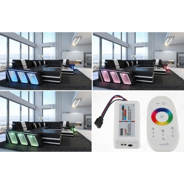 Fauteuil Design ROYAL avec éclairage LED et port USB NATIVO™ mobilier France