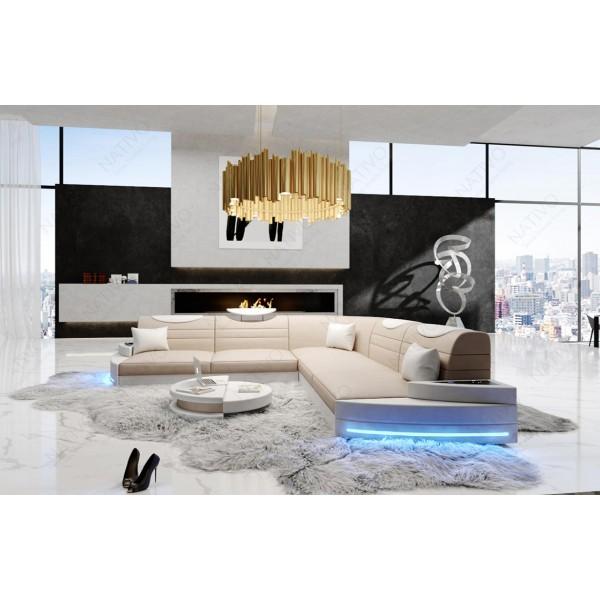 Canapé Design 2 places MATIS avec éclairage LED NATIVO™ mobilier France