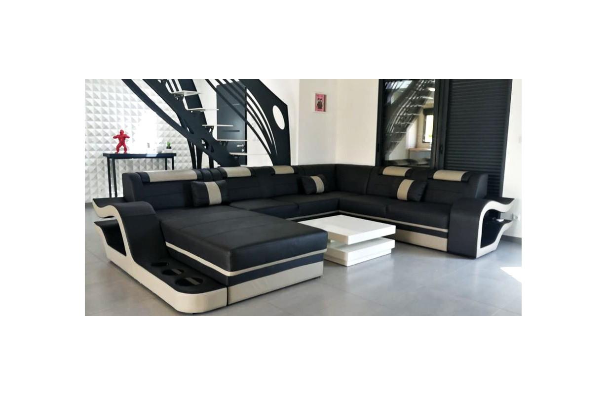 Grand canapé avec éclairage LED