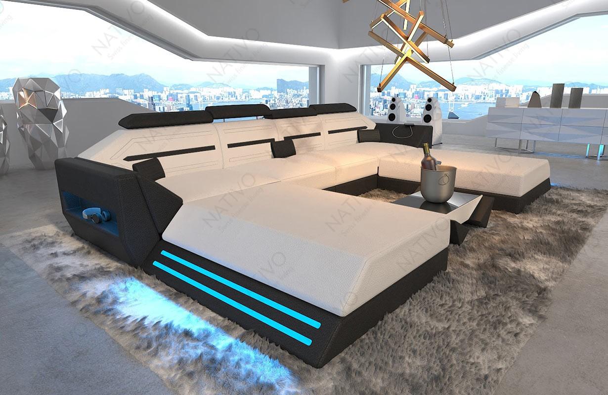 Canapé Design AVATAR XXL DUO avec éclairage LED et port USB