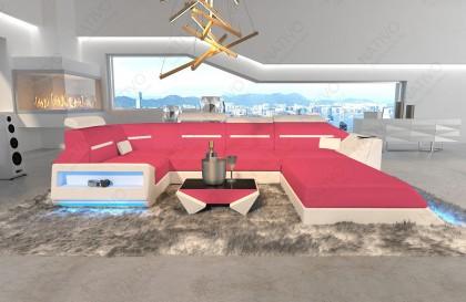 Lounge Set en rotin CORALE jardin (6 pièces) V1