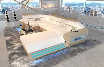 Lounge Set en rotin CORALE jardin (6 pièces) V2