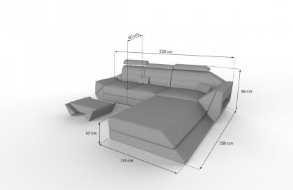 Lounge Set en rotin BARCELONA jardin V1