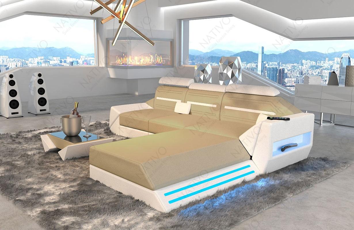 Canapé Design AVATAR MINI avec éclairage LED et port USB