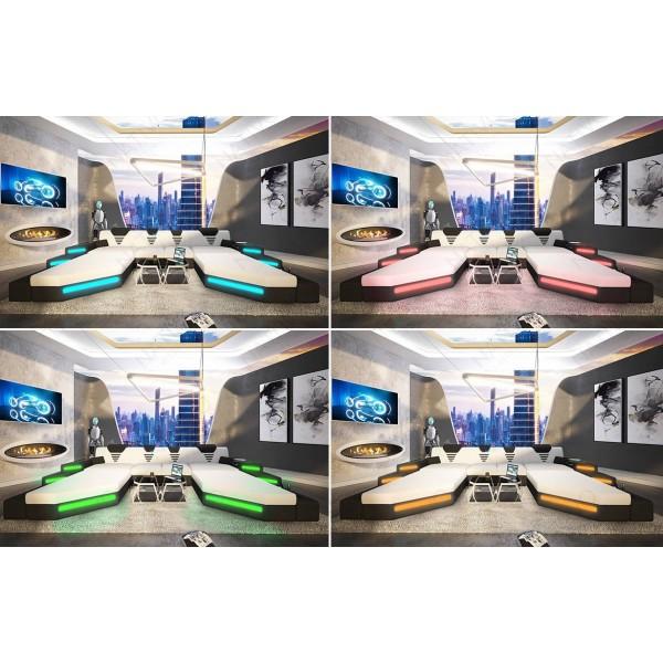 Canapés 3+2+1 Design ATLANTIS avec éclairage LED