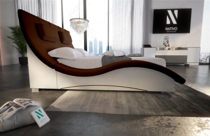 XXL Canapé Lounge en rotin TORRO avec éclairage LED