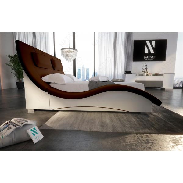 Canapé Lounge TORRO XXL en rotin avec éclairage LED
