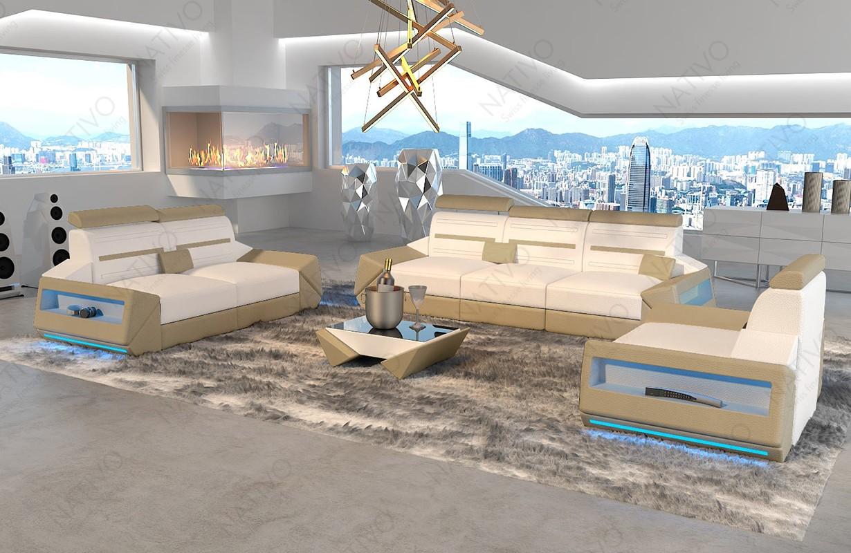 Canapé Design AVATAR 3+2+1 avec éclairage LED et port USB