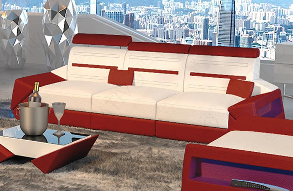 Canapé Design 3 places AVATAR avec éclairage LED et port USB