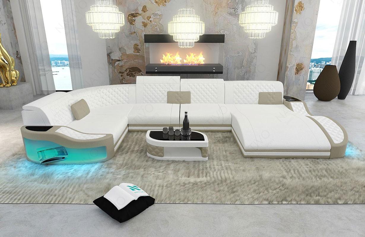 Canapé Design DIABLO XL avec éclairage LED et port USB