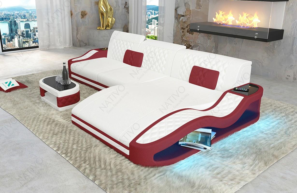 Canapé Design DIABLO MINI avec éclairage LED et port USB