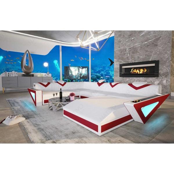 Canapé Design MATIS XXL avec éclairage LED