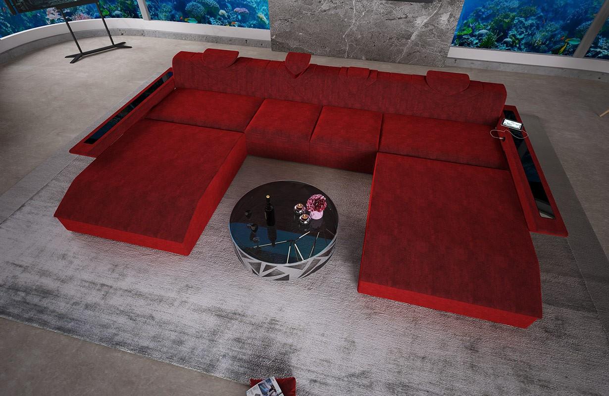 Canapé Design FALCO XXL DUO avec éclairage LED et port USB